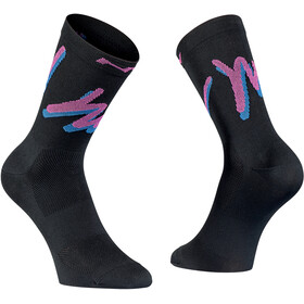 Northwave Vacation Chaussettes Homme, black/fuchsia
